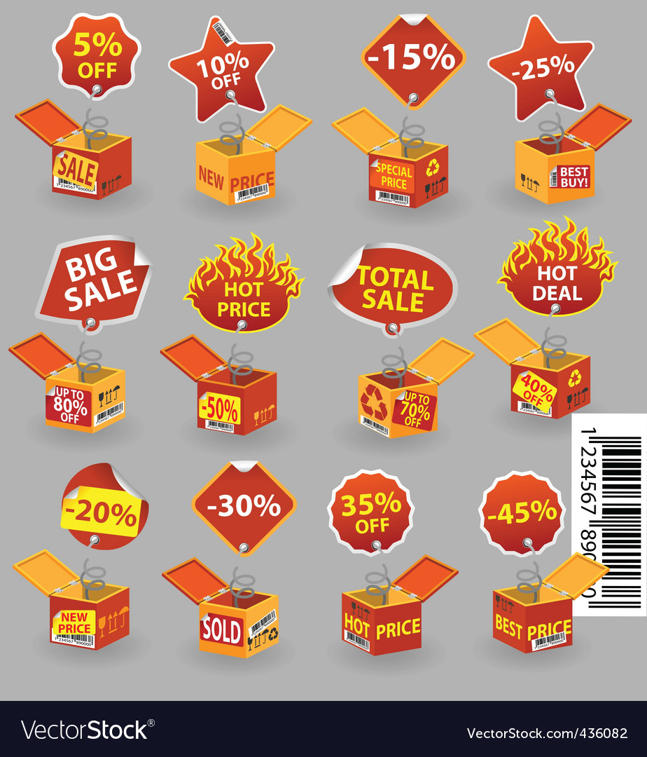 Price box2 vector | Price: 1 Credit (USD $1)