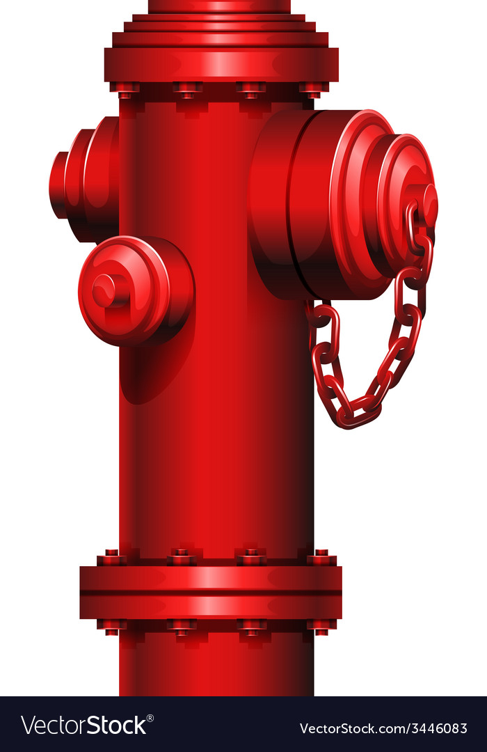 A red hydrant vector | Price: 3 Credit (USD $3)