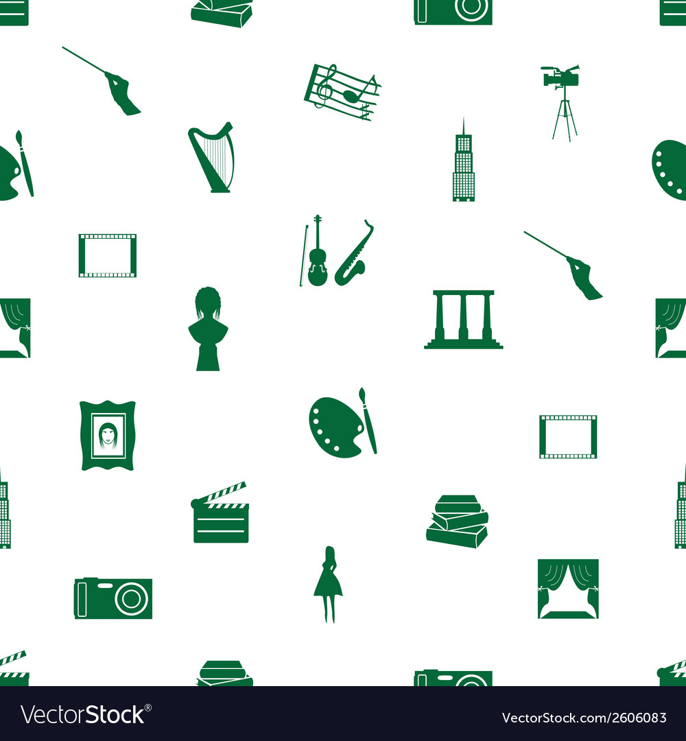 Art icons pattern seamless eps10 vector | Price: 1 Credit (USD $1)