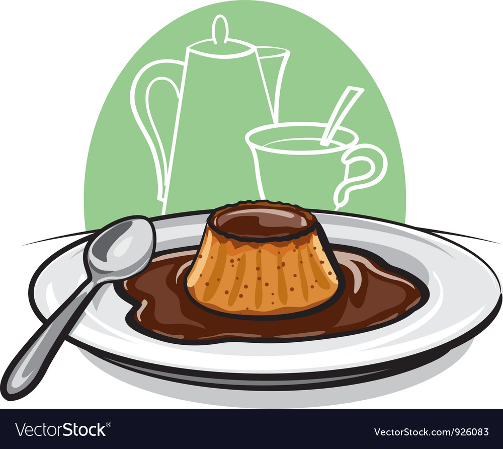 Caramel custard vector | Price: 1 Credit (USD $1)