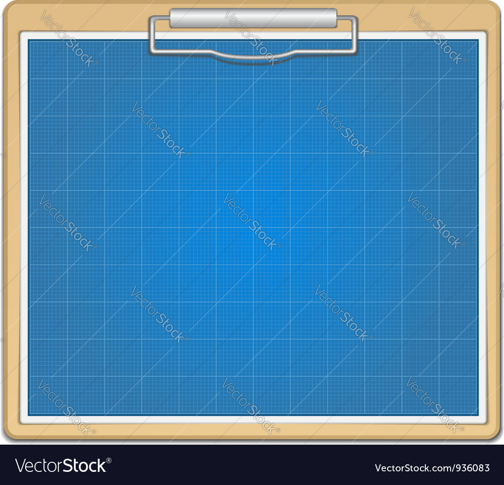 Clipboard with blueprint vector | Price: 1 Credit (USD $1)