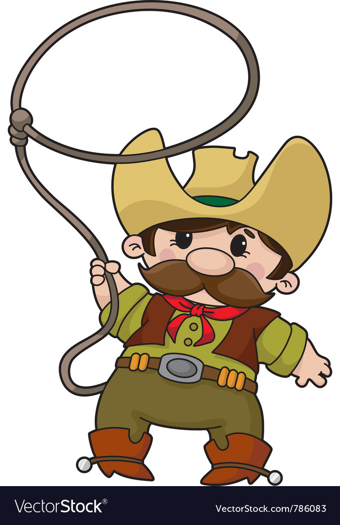 Cowboy with lasso vector | Price: 1 Credit (USD $1)