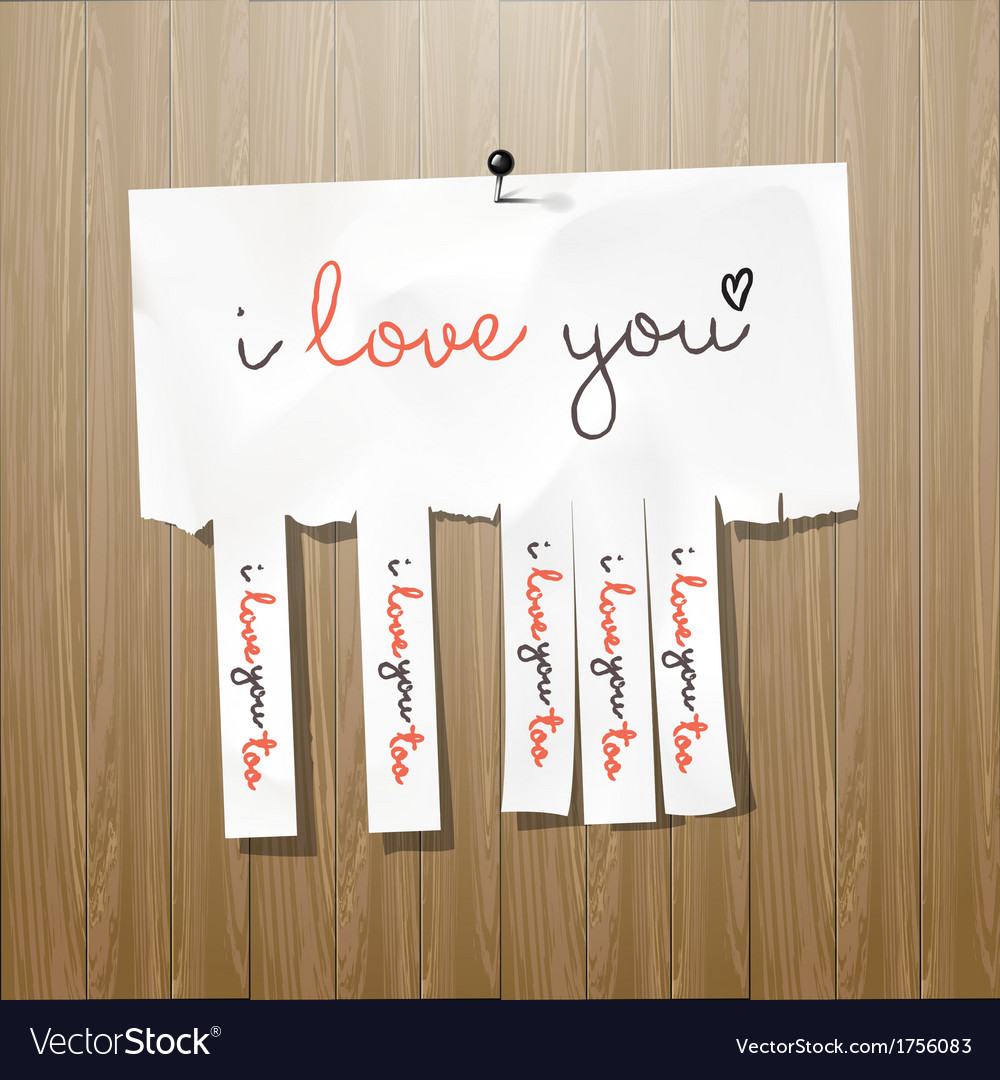 I love you handwritten on advertisement leaflet vector | Price: 1 Credit (USD $1)