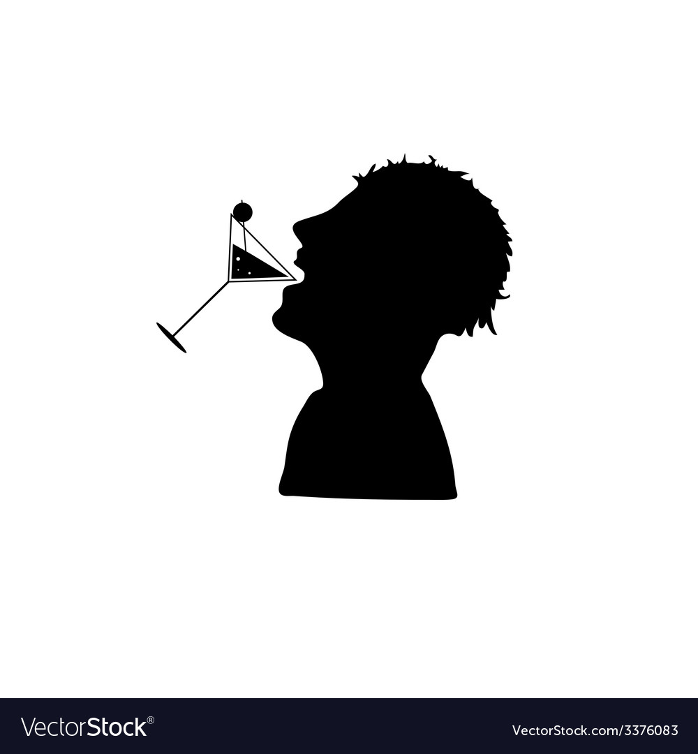 Icon silhouette for drinking vector | Price: 1 Credit (USD $1)