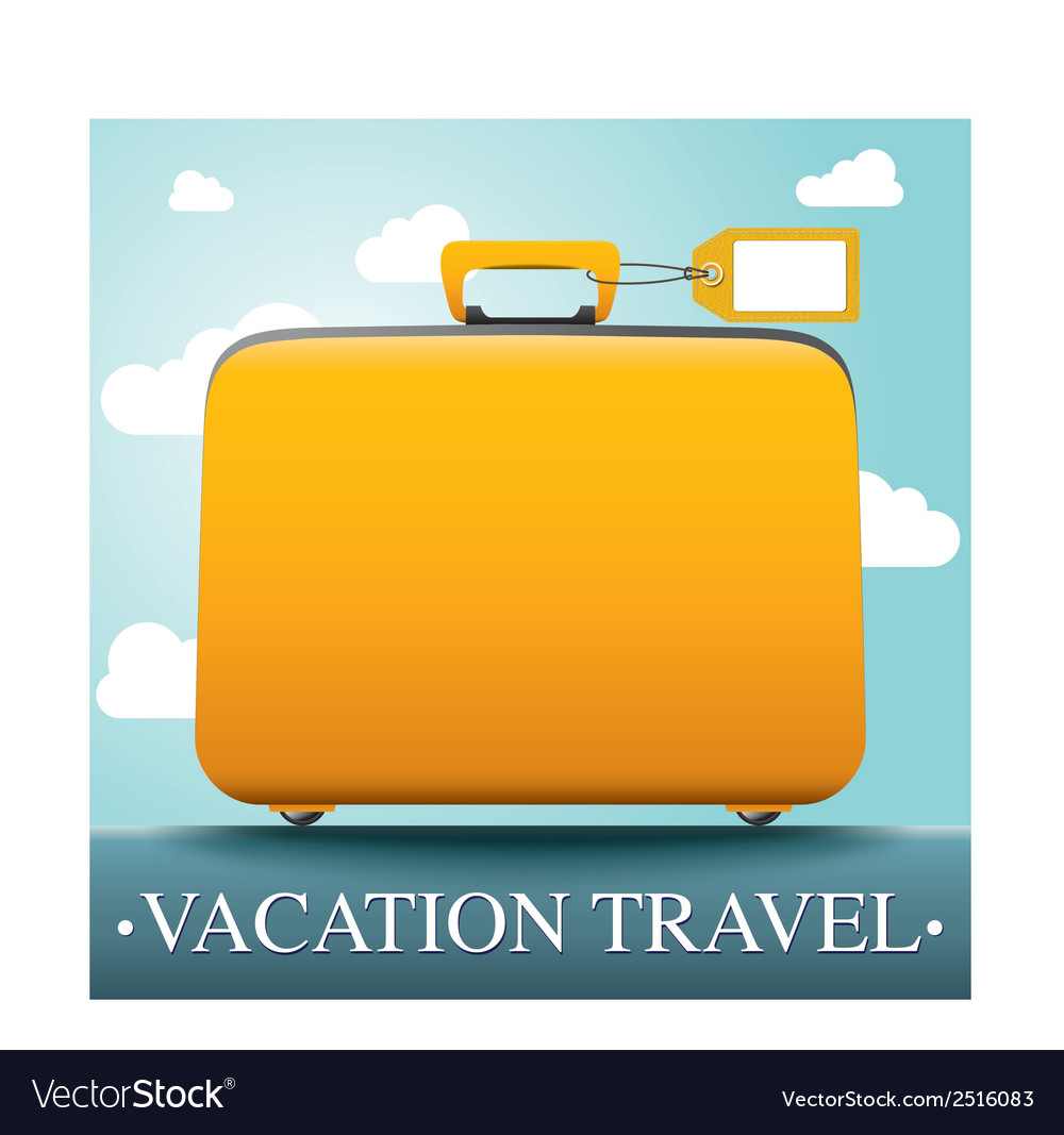Luggage and travel vacation vector | Price: 1 Credit (USD $1)