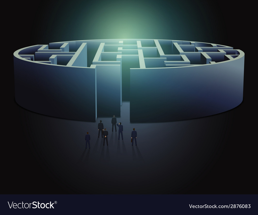 Maze business concept vector | Price: 1 Credit (USD $1)