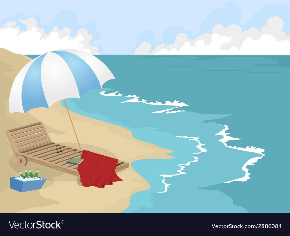 A beach holiday vector | Price: 1 Credit (USD $1)