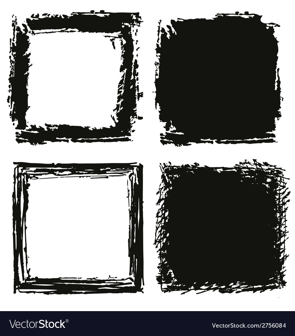 Black grungy background and frame vector | Price: 1 Credit (USD $1)