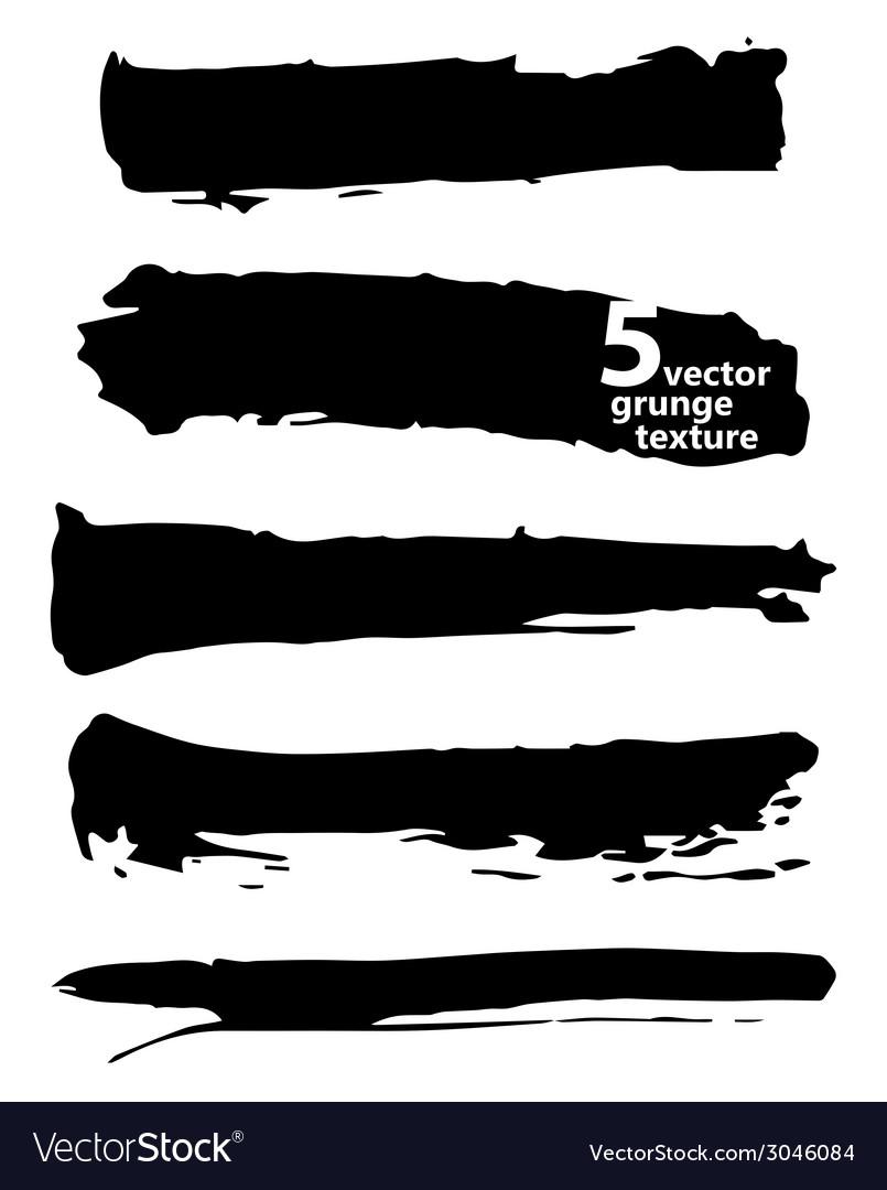 Black ink brush strokes vector | Price: 1 Credit (USD $1)
