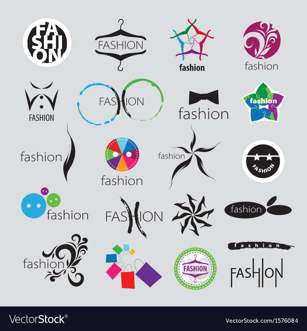 Collection of logos for clothing vector | Price: 1 Credit (USD $1)
