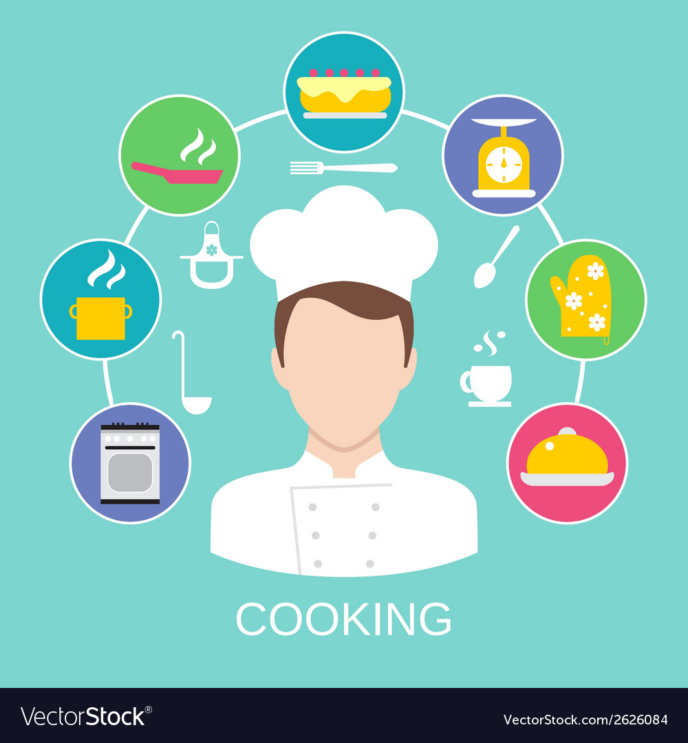 Cooking concept poster print vector | Price: 1 Credit (USD $1)