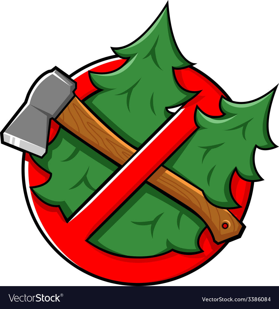 Do not cut tree sign vector   Price: 1 Credit (USD $1)