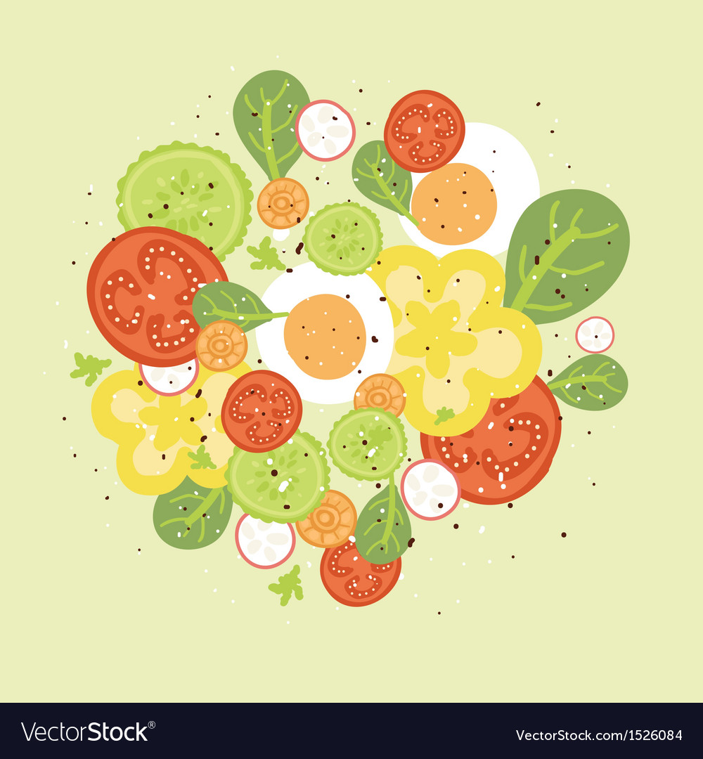 Fresh salad vector | Price: 1 Credit (USD $1)