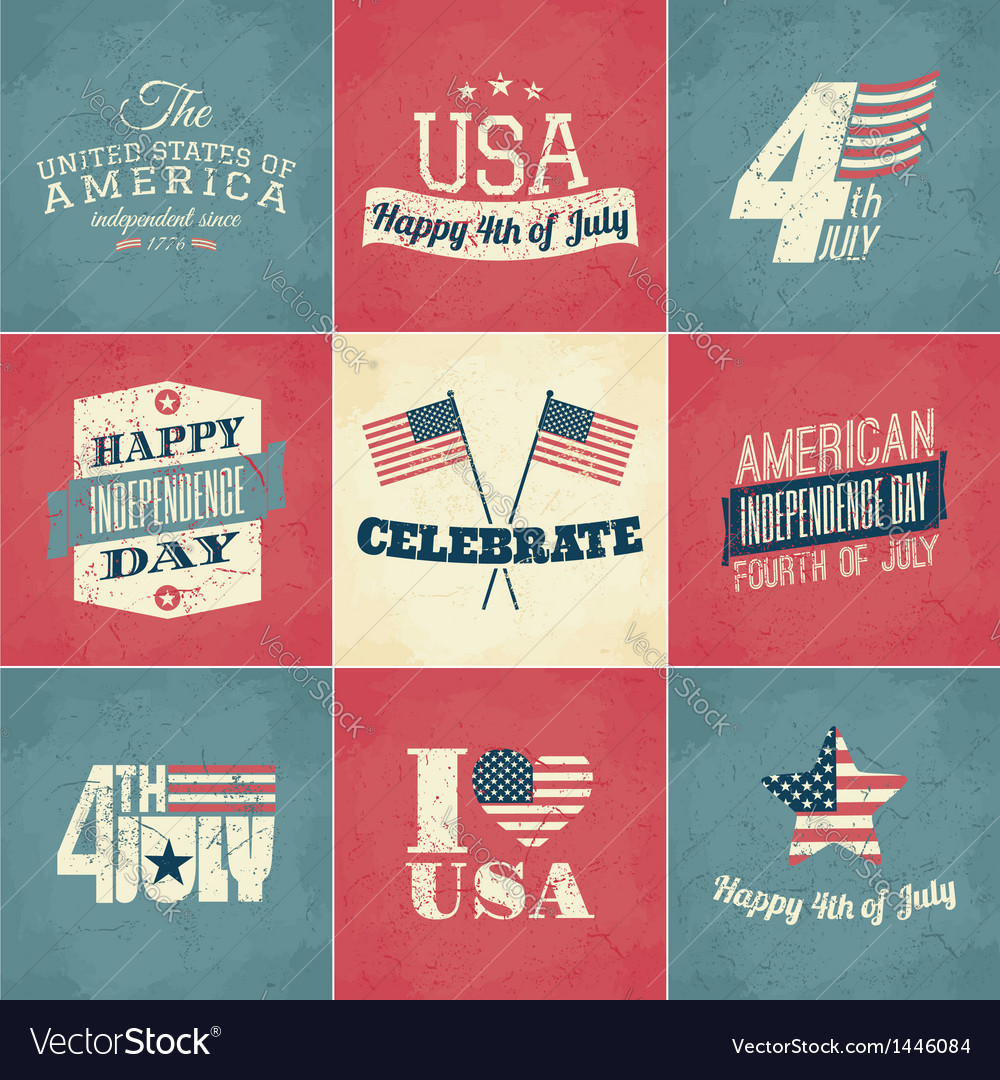 Independence day cards set vector | Price: 3 Credit (USD $3)