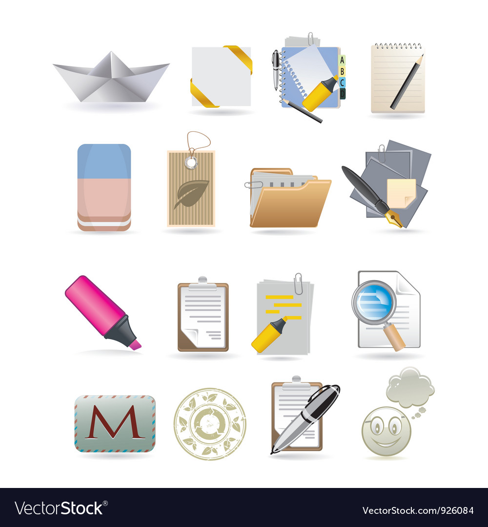 Paper icons vector | Price: 3 Credit (USD $3)