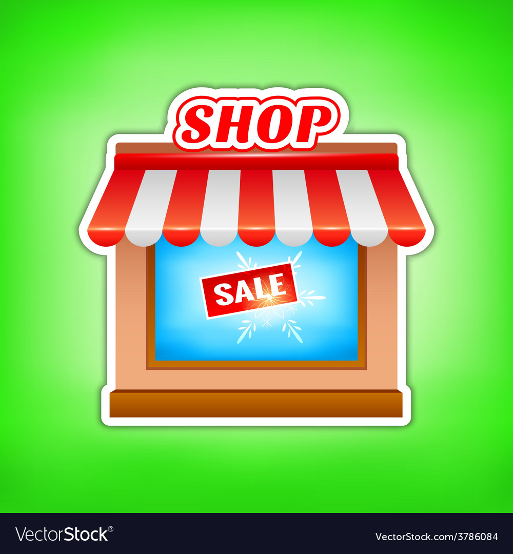 Shop icon sale vector | Price: 1 Credit (USD $1)