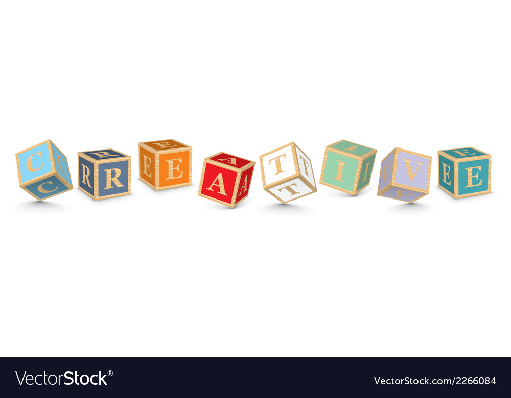 Word creative written with alphabet blocks vector   Price: 1 Credit (USD $1)