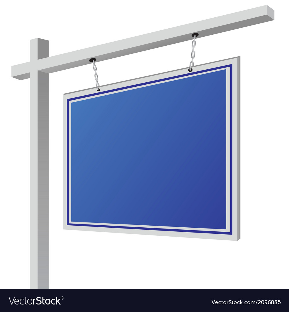 City light billboard on column with empty space vector | Price: 1 Credit (USD $1)