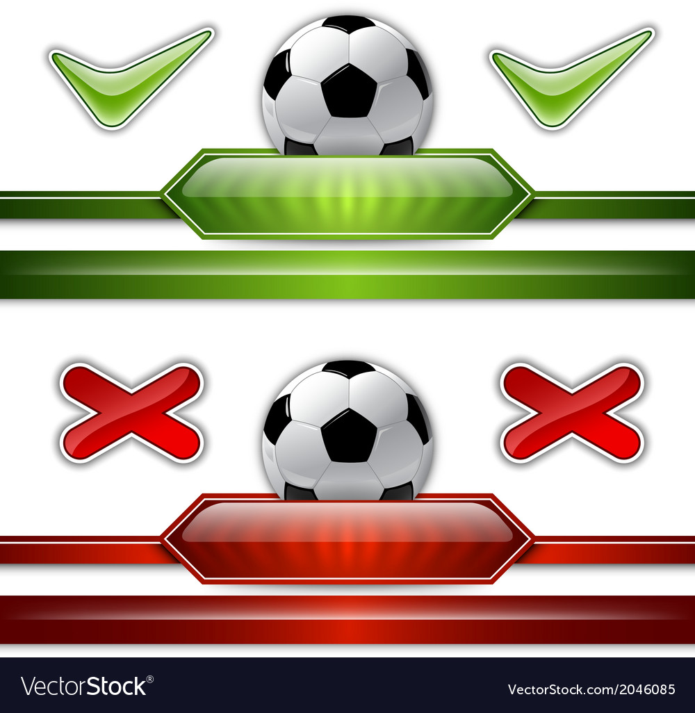 Football score two colors vector | Price: 1 Credit (USD $1)