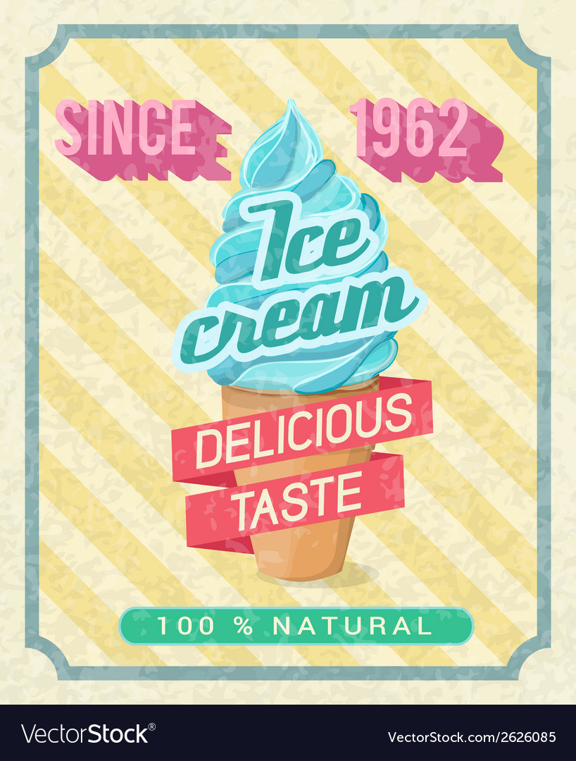 Ice-cream poster vector | Price: 1 Credit (USD $1)