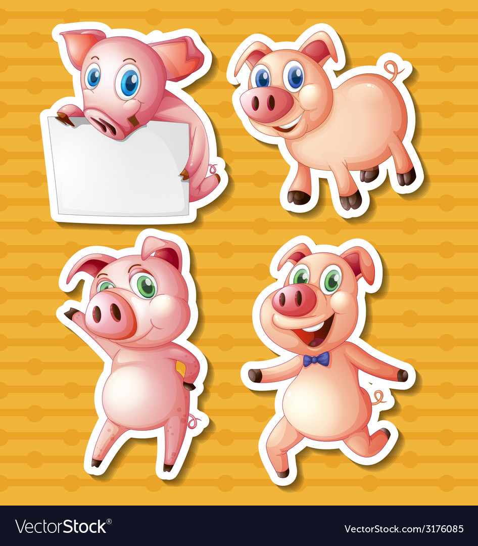 Pigs vector | Price: 1 Credit (USD $1)