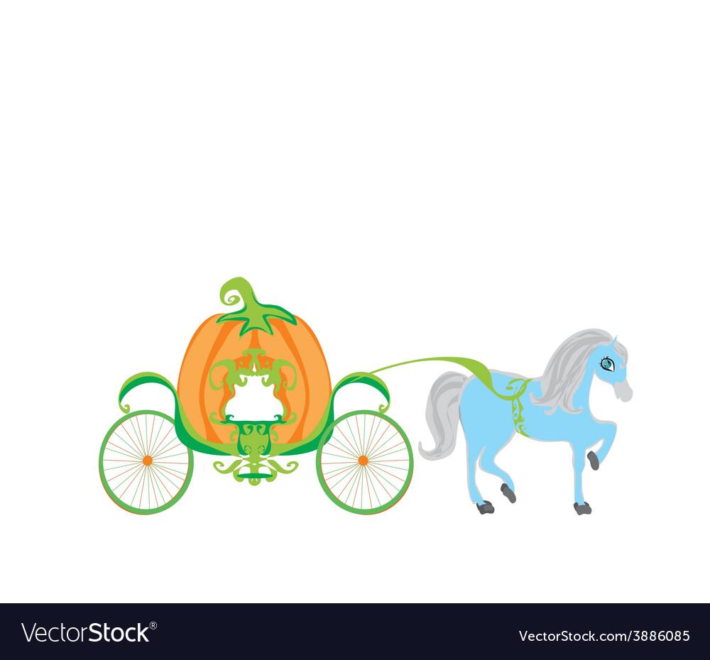 Pumpkin carriage vector | Price: 1 Credit (USD $1)