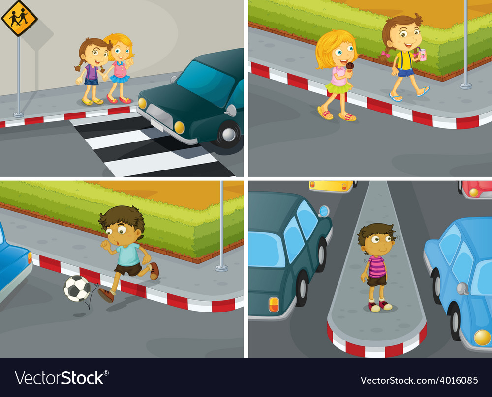 Road safety vector | Price: 1 Credit (USD $1)