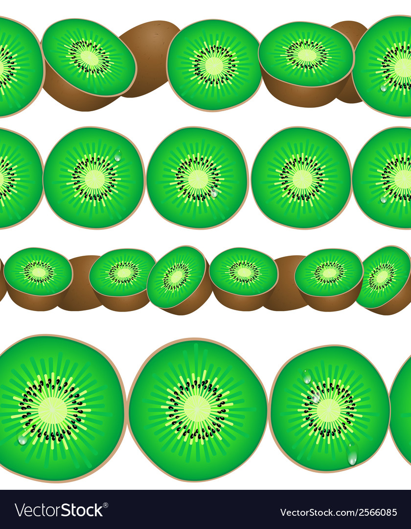 Seamless border of kiwi vector | Price: 1 Credit (USD $1)