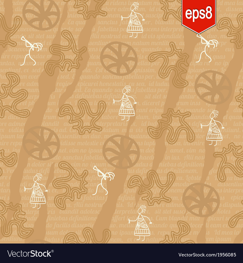 Seamless pattern in ethnic style vector | Price: 1 Credit (USD $1)