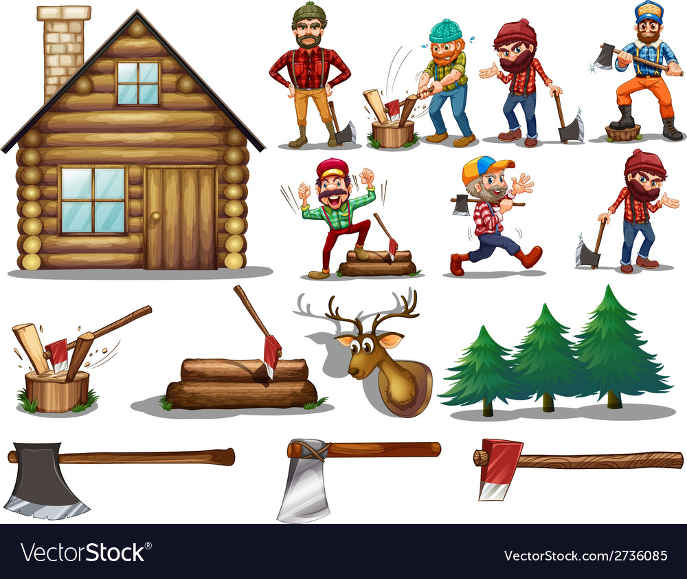 Set of lumber vector | Price: 1 Credit (USD $1)
