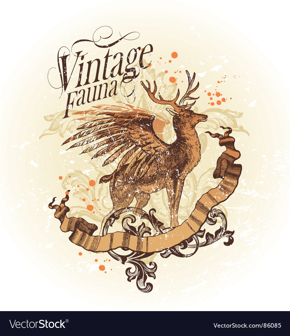 Vintage fauna vector | Price: 1 Credit (USD $1)