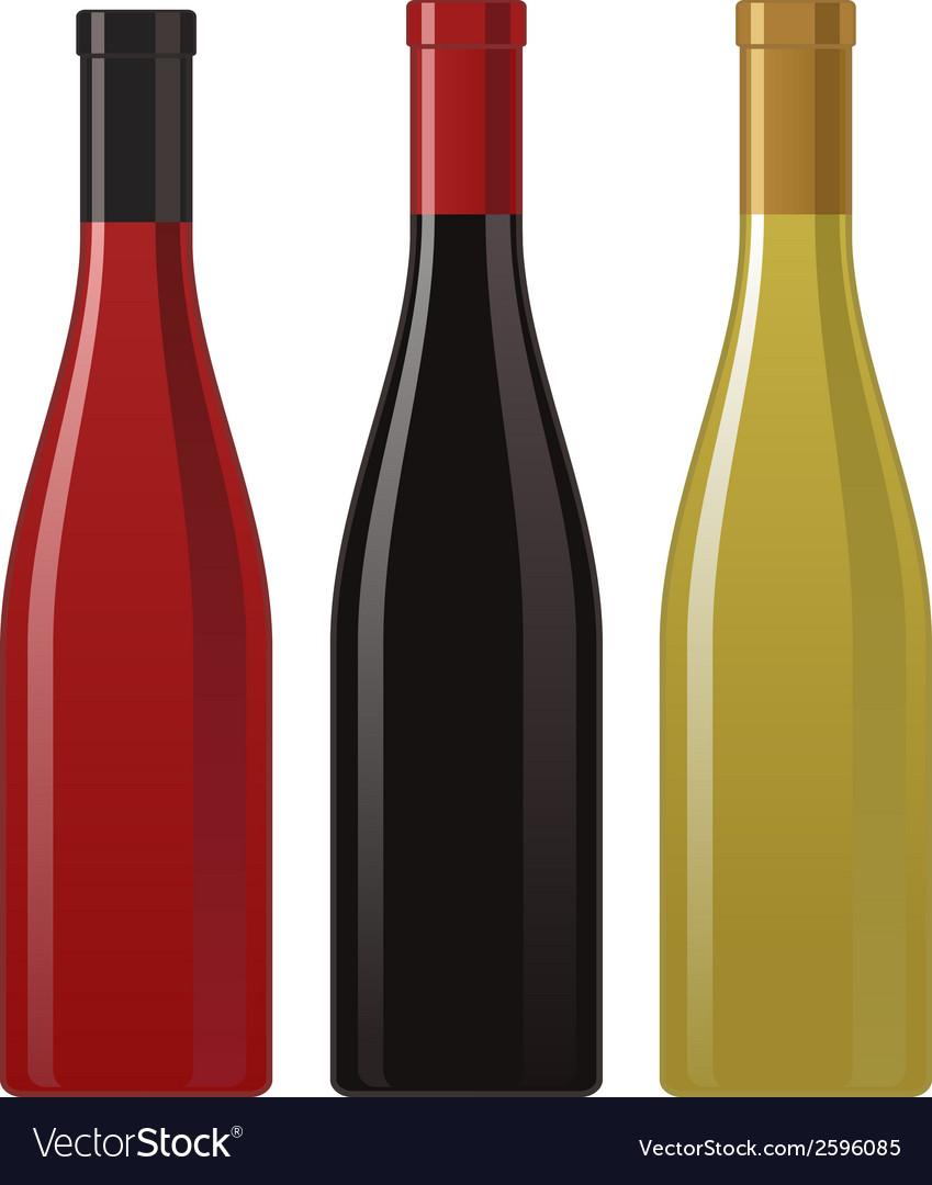 Wine bottle vector | Price: 1 Credit (USD $1)