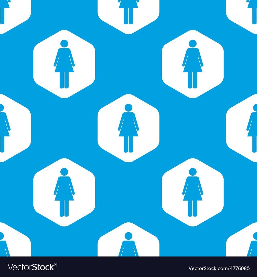 Woman hexagon pattern vector | Price: 1 Credit (USD $1)