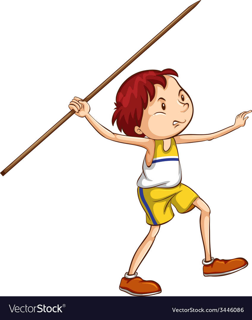 A boy throwing a stick vector | Price: 3 Credit (USD $3)