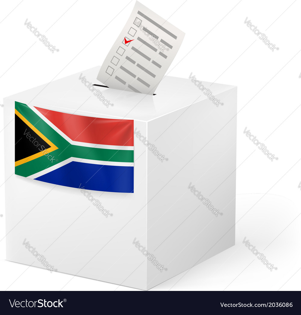 Ballot box with voting paper south africa vector | Price: 1 Credit (USD $1)