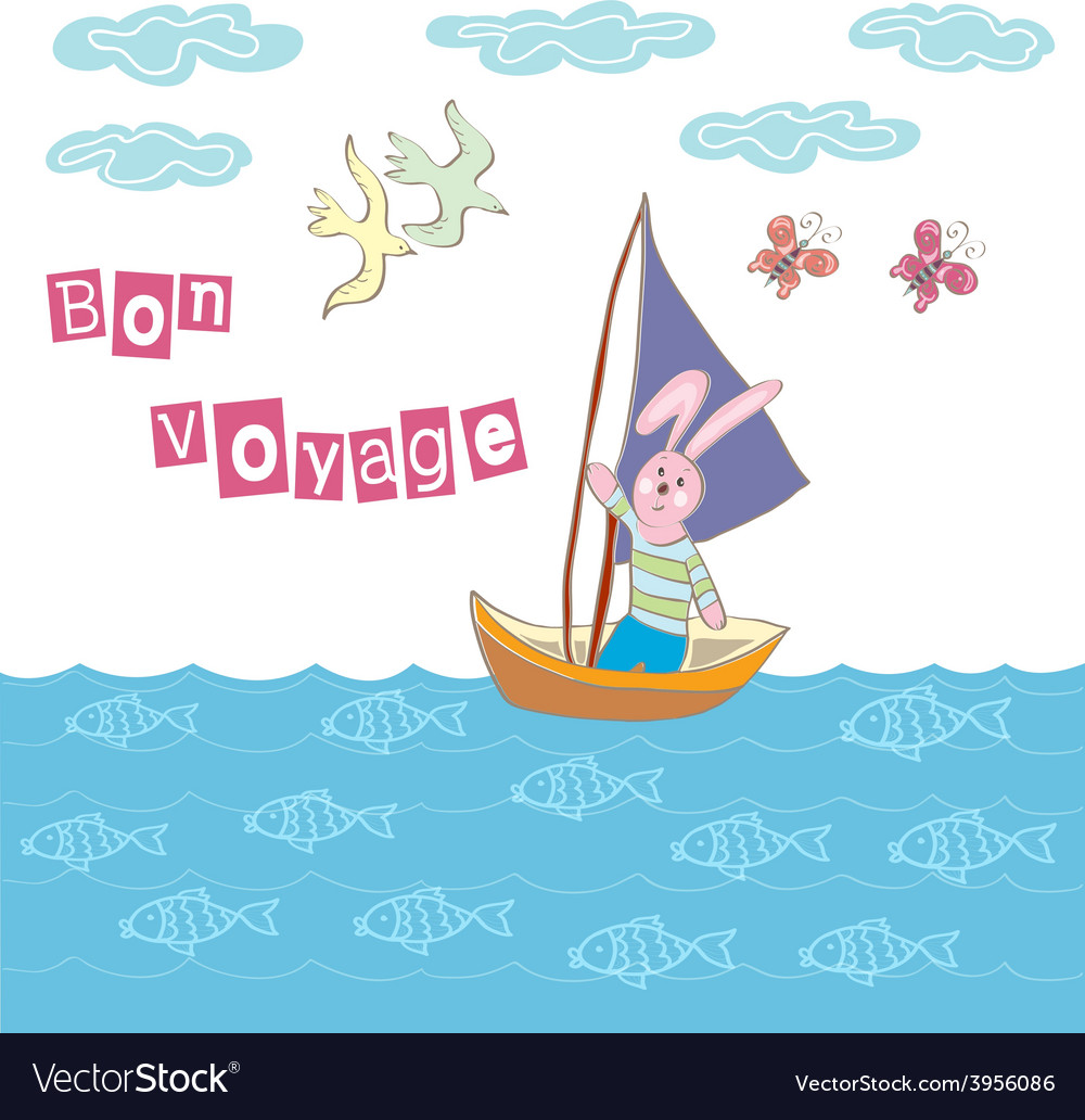 Bon voyage cartoon vector | Price: 1 Credit (USD $1)