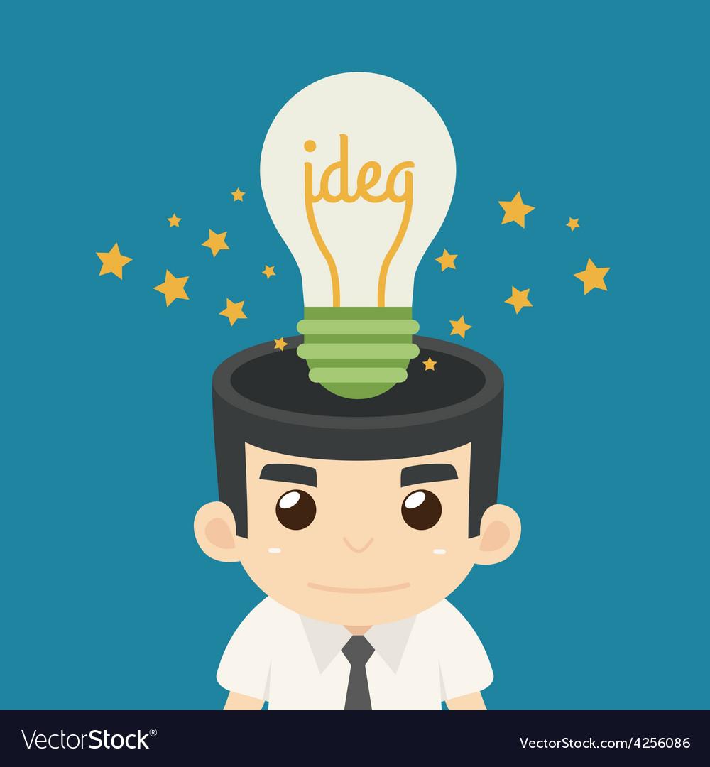 Businessman get idea vector | Price: 1 Credit (USD $1)
