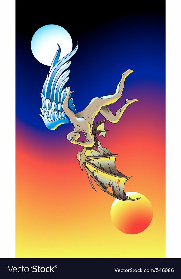 Fallen angel vector | Price: 1 Credit (USD $1)