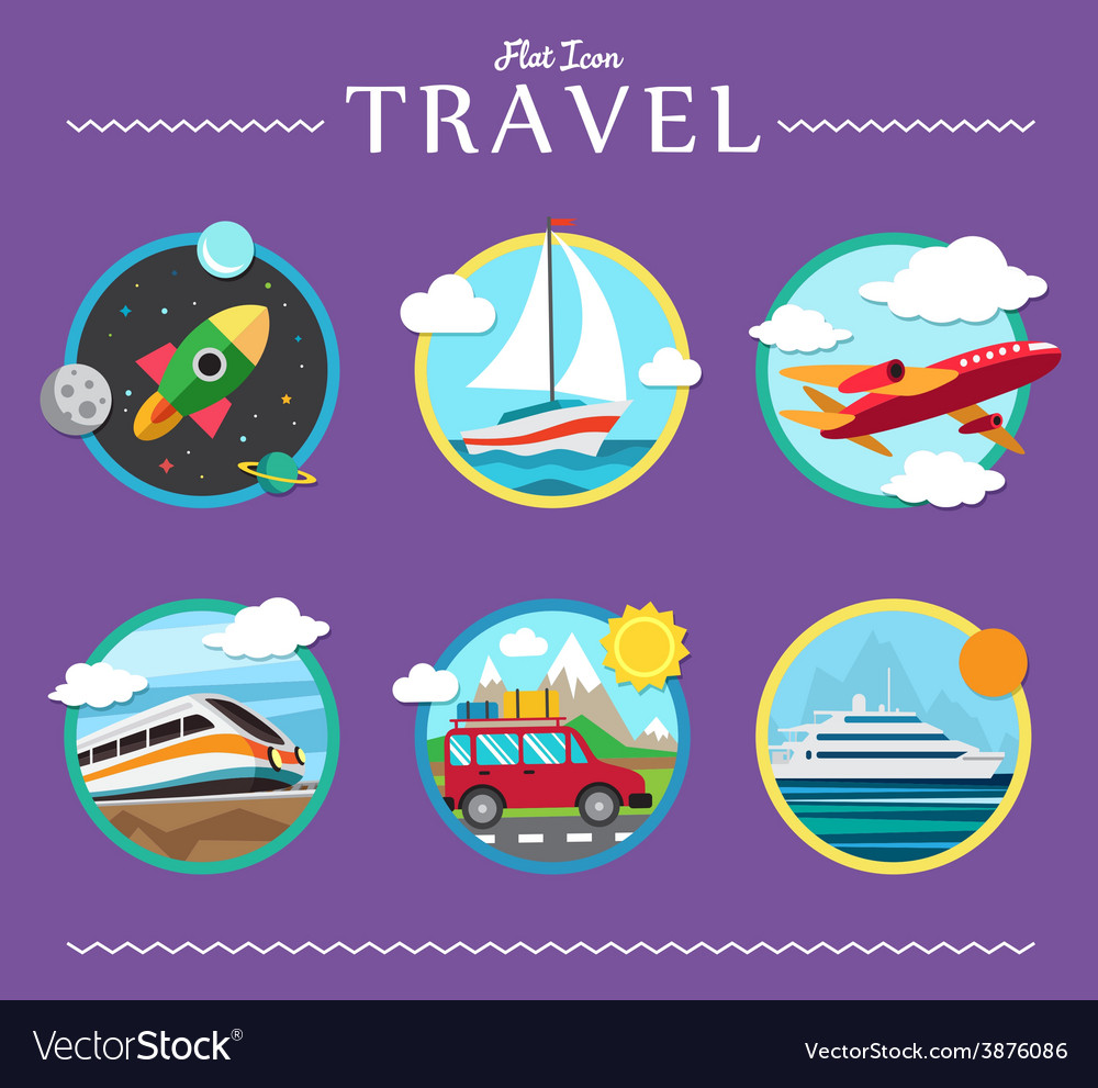 Icons set of traveling planning a summer vacation vector | Price: 1 Credit (USD $1)