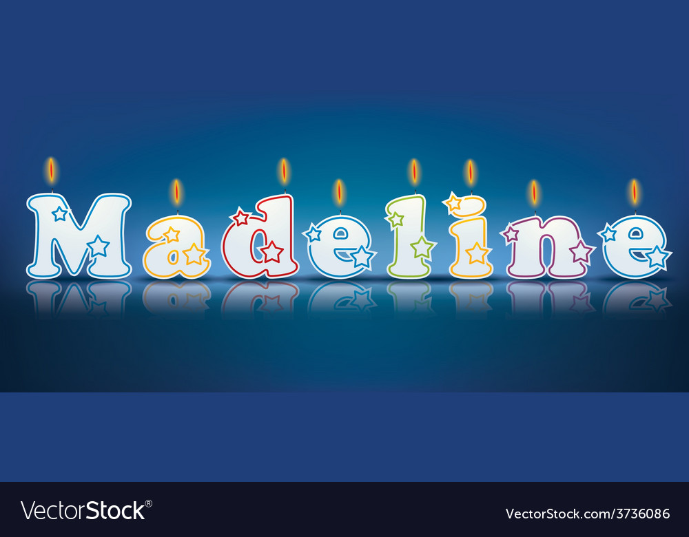 Madeline written with burning candles vector | Price: 1 Credit (USD $1)