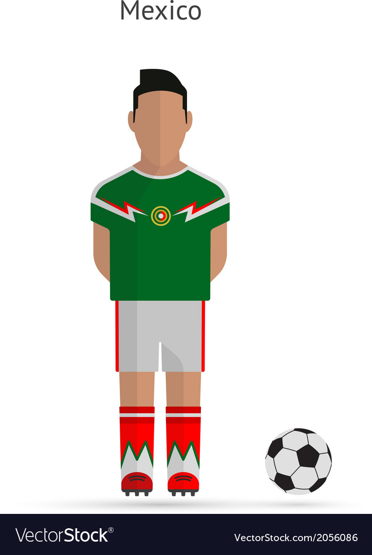 National football player mexico soccer team vector | Price: 1 Credit (USD $1)