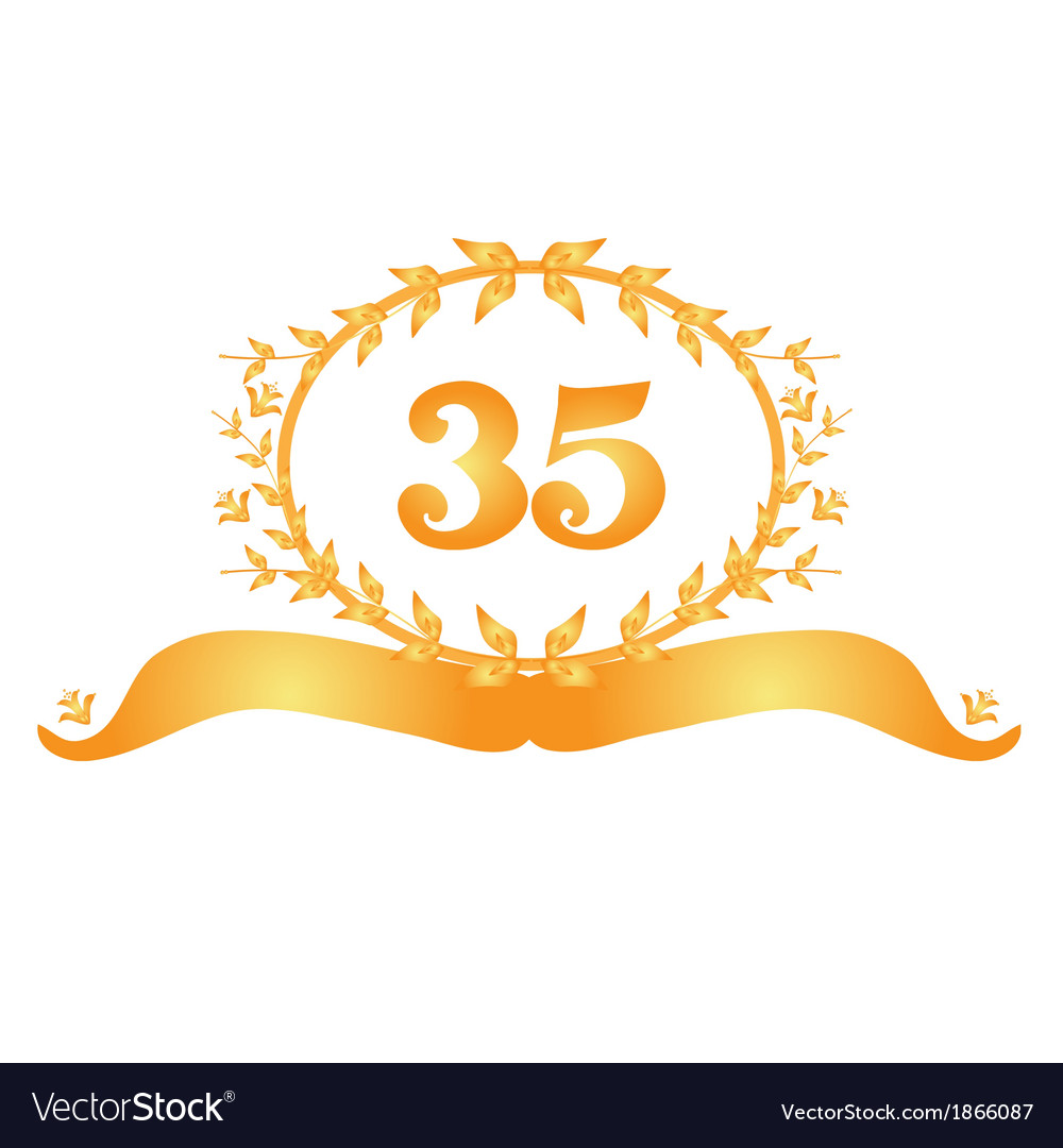 35th anniversary banner vector | Price: 1 Credit (USD $1)