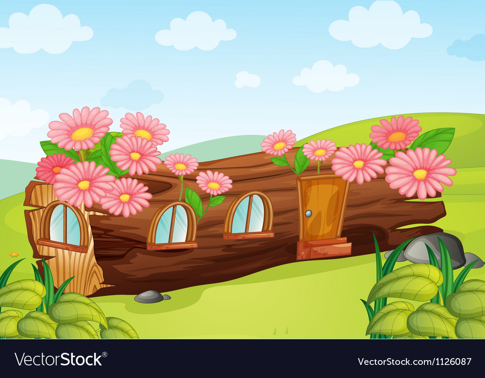 A wood house vector | Price: 1 Credit (USD $1)