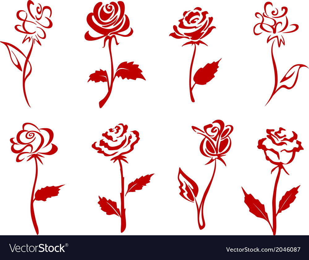 Beautiful red roses vector | Price: 1 Credit (USD $1)