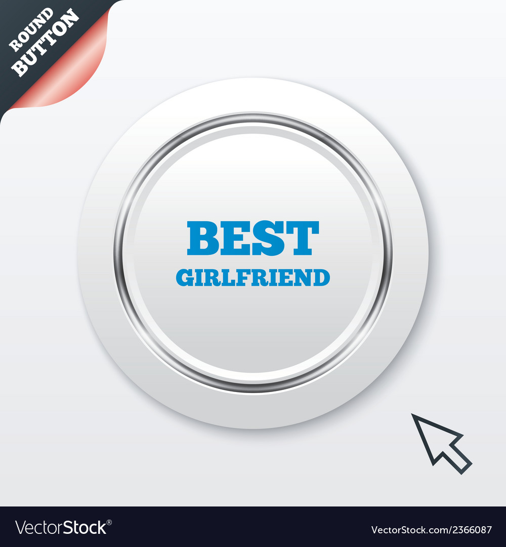Best girlfriend sign icon award symbol vector | Price: 1 Credit (USD $1)