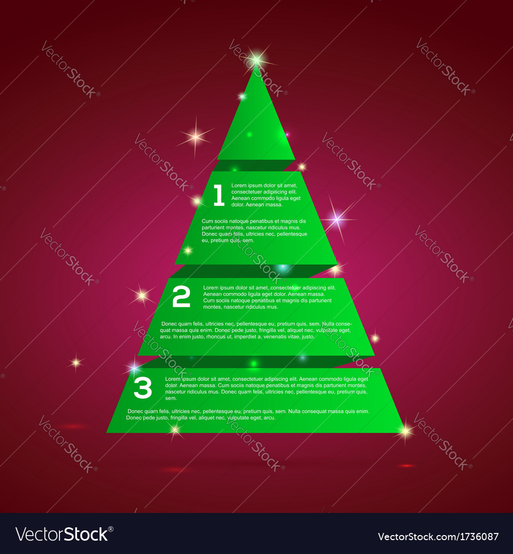 Christmas tree green tape infographics vector | Price: 1 Credit (USD $1)