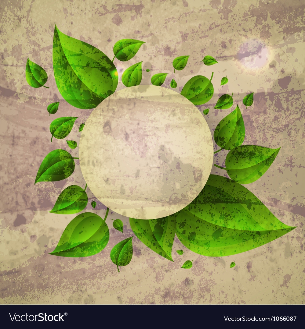 Floral leaves frame background vector | Price: 1 Credit (USD $1)