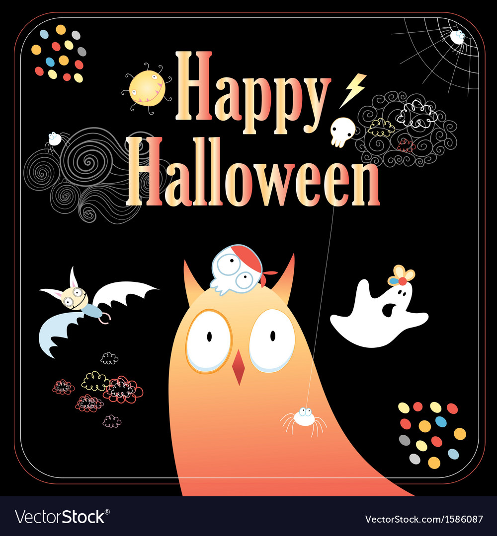 Greeting card for halloween vector | Price: 1 Credit (USD $1)