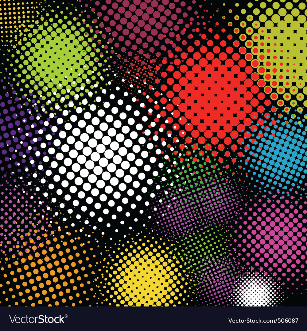 halftone multicolor background eps 8 vector | Price: 1 Credit (USD $1)