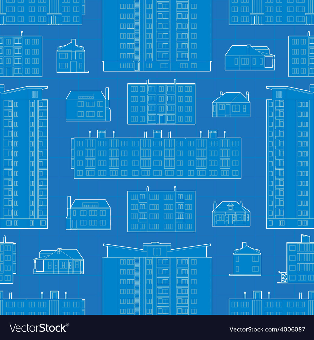 Seamless pattern with blueprint of dwelling vector | Price: 1 Credit (USD $1)